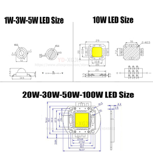 Image 3 - Hot IR High Power LED Chips  3W 5W 10W 20W 30W 50W 100W 730Nm 850Nm 940Nm for Emitter Diode COB integrated Matrix Light Beads