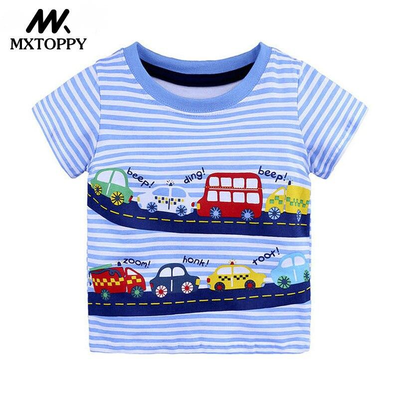 MXTOPPY Boys Tops 2018 Summer Fashion Kid T-shirts Boys Clothes Kids Tee Boys T-Shirt Cotton Print Children Clothing boys tee
