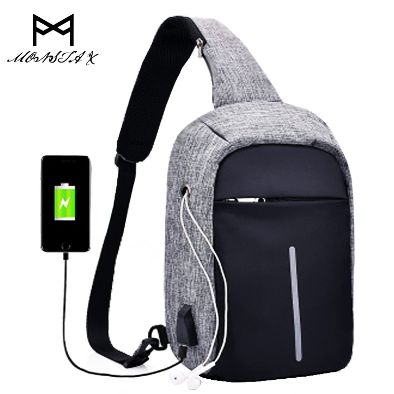 External USB Charge Backpack Men Anti Theft Lock Small School Bags Male Travel Backpacks With Headphone Perforation travel bag sopamey usb charge men anti theft travel backpack 16 inch laptop backpacks for male waterproof school backpacks bags wholesale
