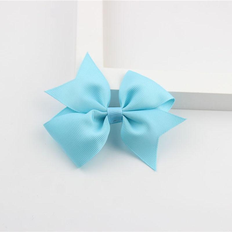 Новые модные маленькие заколки для волос для маленьких девочек, милые заколки для волос карамельного цвета с цветком, детские заколки, аксессуары для волос - Цвет: a07 turquoise