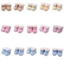 Newborn Toddler Cartoon Cute Snow Boots Soft Sole Crib Shoes