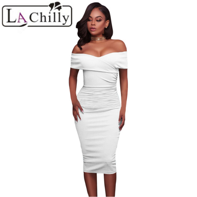 La Chilly Ladies Office Dress Robe Femme Ete 2018 Summer Womens ...