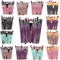 50set/lot wholesale 15 Pcs/Sets Eye Shadow Foundation Eyebrow Lip Brush Makeup Brushes Comestic Tool Make Up Eye Brushes Set
