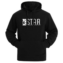 2017 STAR Labs Black Women/Men Hooded Hoodies Male Sweatshirt Jumper The Flash Gotham City Comic Books Superman Tv Series Hoody