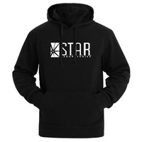 2017 STAR Labs Black Women Men Hooded Hoodies Male Sweatshirt Jumper The Flash Gotham City Comic