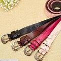 Ancho x alto Cinturón de Cuero Genuino para Las Mujeres Casual Diseñador de la Marca de Lujo de Las Mujeres Cinturones Himunu Ahuecar Hebilla Cinturón Vestido de la Manera