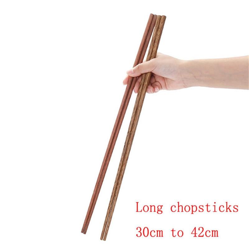 1//5 Pairs Chinese Non-slip Design Chop Sticks Stainless Steel Chopsticks  VN