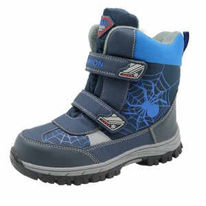 Image 4 - Apakowa winter kids snow boots mid calf bungee lacing waterproof boys boots big boys sport shoes wollen lining kids winter boots