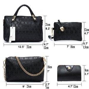 Image 4 - Soperwillton Women Bag Top Handle Bags Female Famous Brand 2020 Women Messenger Bags Handbag Set PU Leather Composite Bag #150