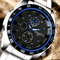 Marca Esporte Militar Relógios Moda Casual Azul Círculo de Quartzo Relógio Analógico Homens 2016 Novo Luxo Relógio de Pulso Relogio masculino