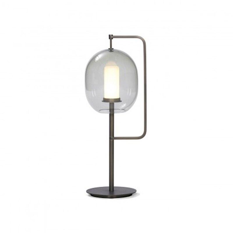 Современный стеклянный стол, металлический Настольный светильник для спальни, светильники, настольные лампы, гостиная, золотой, черный, настольная лампа, домашние настольные лампы AL101 - 5