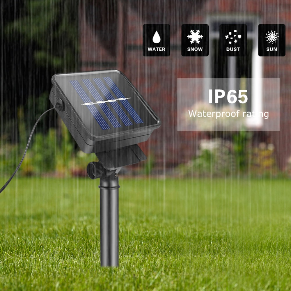 on sale 02cf7 e86d2 US $7.4 35% OFF|Fairy Solar Lights Lawn Lamps Waterproof Outdoor Solar  String Lights Crystal Ball Christmas Tree Garden Decoration For Holidays-in  LED ...