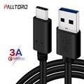 Palltoro 3A USB 3,0 Type C кабель USBC зарядный шнур для передачи данных USB3.0 Type-c кабель для Samsung Note 9 8 S9 One plus 6 5t USB-C зарядное устройство