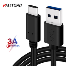 Palltoro 3A USB 3.0 Type C Cable USBC Data Charging Cord USB3.0 Type-c For Samsung Note 9 8 S9 One plus 6 5t USB-C Charger