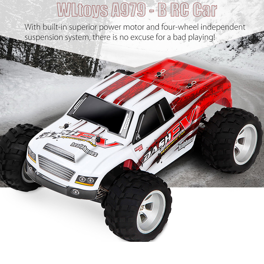 WLtoys A979-B 4WD 1/18 High Speed Monster Truck 1:18 RC Car 70km/H With Transmitter With Battery RTR Remote Control Toys wltoys a959 b 1 18 scale 70km h high speed rc car rtr