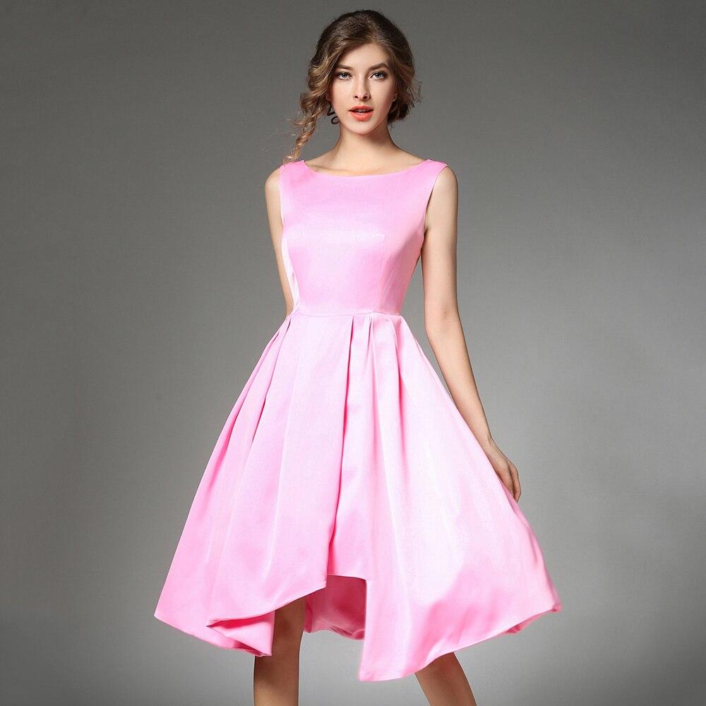 Increíble Calientes Vestidos De Fiesta Rosa Bajo 100 Galería ...