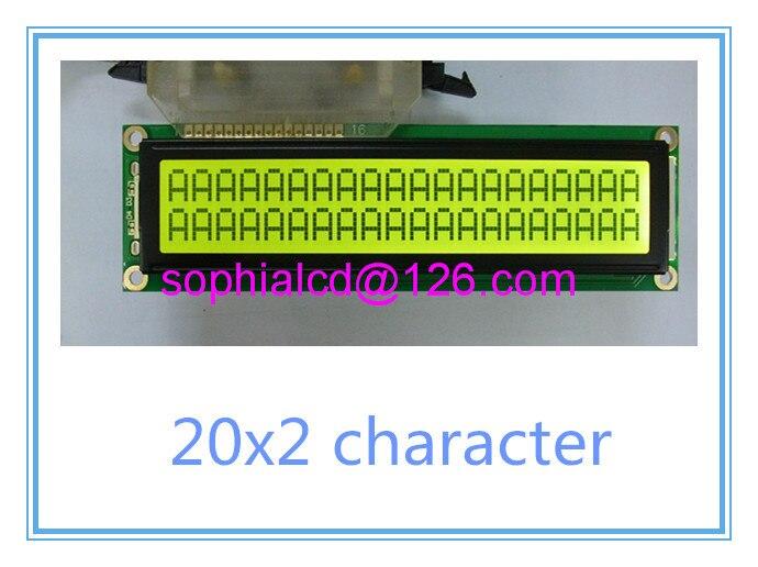 Free shipping 2pcs LCD 2002 20X2 lcd display module big large size 146 43mm HD44780 WH2002M