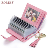 Womens Fashion Genuine Leather Short Wallet Leather Soft Card Case Holder Tassel Small Hasp Wallets Lady