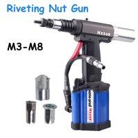 Pneumatic Riveting Gun Automatic Pull Rivet Gun Riveters Applicable to M3 M8 Rivet Nut M2308