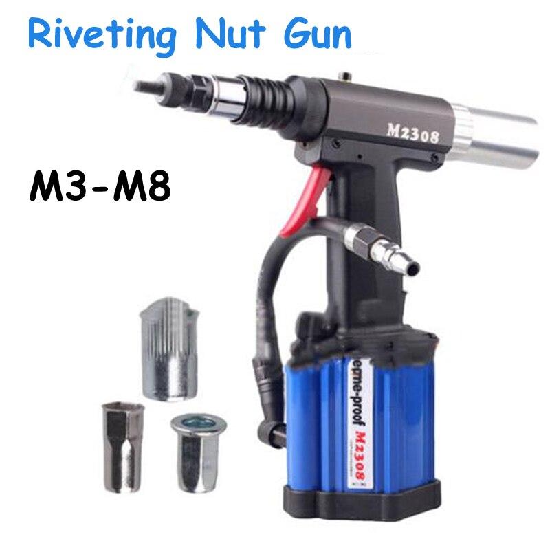 Riveteuses pneumatiques pour pistolet à rivetage automatique applicables à l'écrou à rivets M3-M8 M2308
