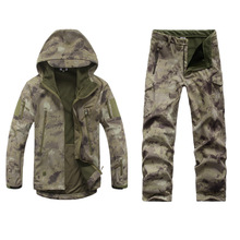 HIgh Quality TAD V 4.0 Men Outdoor Hunting Camping Hiking Windproof Coats Jacket Hoody Softshell Jacket+pants Set Suits