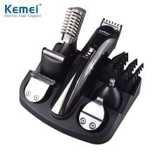 Kemei600 6 in 1 hair trimmer titanium hair clipper electric shaver beard trimmer men styling tools shaving machine cutting