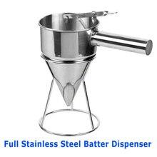 Яйцо жидкость Тесто Диспенсер вафельный бункера TAKOYAKI льда поп решений инструмент дистрибьютор полный Нержавеющая сталь