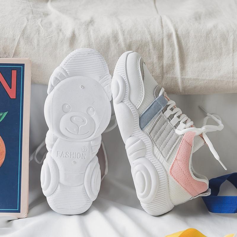 Women Casual Shoes Femme Pink purple Shoes Platform Shoes Women Sneakers Flats Fashion Lace-Up White Breathable woman SneakersWomen Casual Shoes Femme Pink purple Shoes Platform Shoes Women Sneakers Flats Fashion Lace-Up White Breathable woman Sneakers