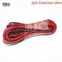 5 mt/10 mt/20 mt/los, 22awg 2pin 5050 3528 RGB LED Streifen Draht Verlängern Rot Schwarz Kabel Stecker Kabel Elektrischen Draht CB-22AWG-RB