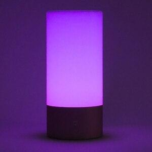 Image 4 - Xiaomi Mijia Mi Yeelight Bedside Lamp Table Desk Smart Indoor Light 16 Million RGB Touch Control Bluetooth Wifi for Mi home APP