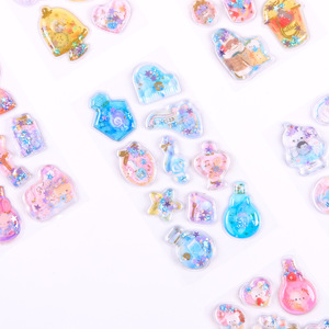 Image 3 - 12set Kawaii Stationery Stickers Crystal oil filling Diary Planner Decorative Mobile Stickers Scrapbooking DIY Craft Stickers