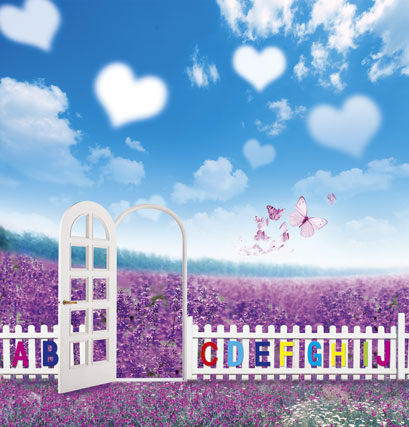5*7feet(150*215CM) Butterfly clouds flowers photography backdrops photography background fotografia