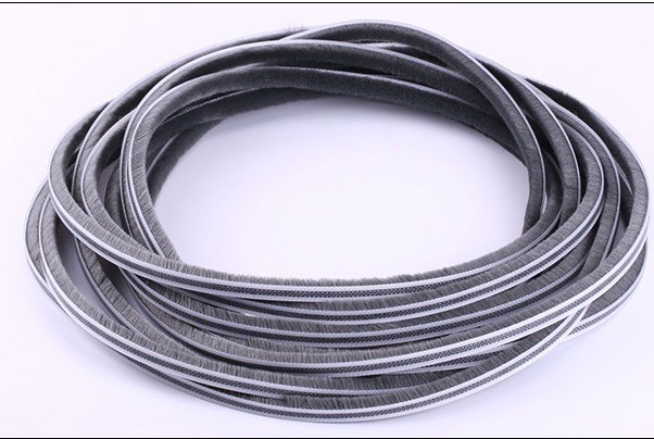5/6/7mm 10M/lot Elastic Straight Hair Sealing Strip Door/Window Groove Nylon Pile Brush Seal Weatherstrip Dust Proof Strip