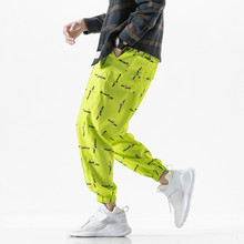 Man Streetwear Sport Pants 2019 Mens Hip Hop Sweatpants Male Loose Track Sunscreen Baggy Joggers Overalls  men