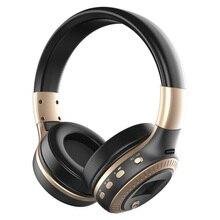 HiFi Bass سماعة رأس لاسلكية مزودة بتقنية البلوتوث وجهاز ستيريو مع شاشة LCD وميكروفون وراديو FM ومنفذ بطاقة TF