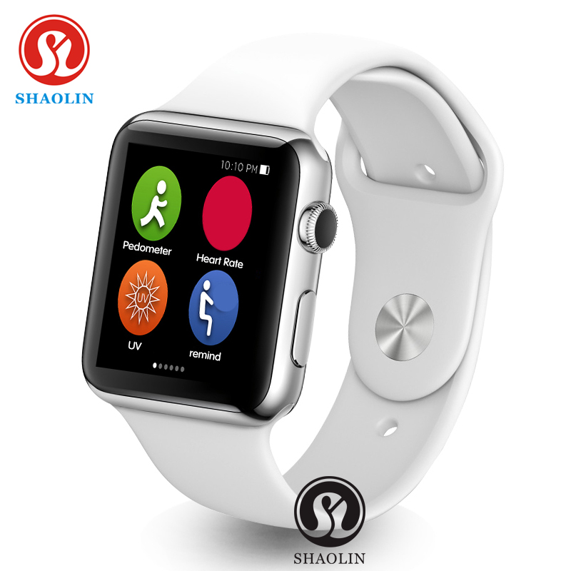 imágenes para Shaolin smart watch reloj inteligente 1:1 bluetooth smartwatch para apple iphone ios android smartphones parece apple watch