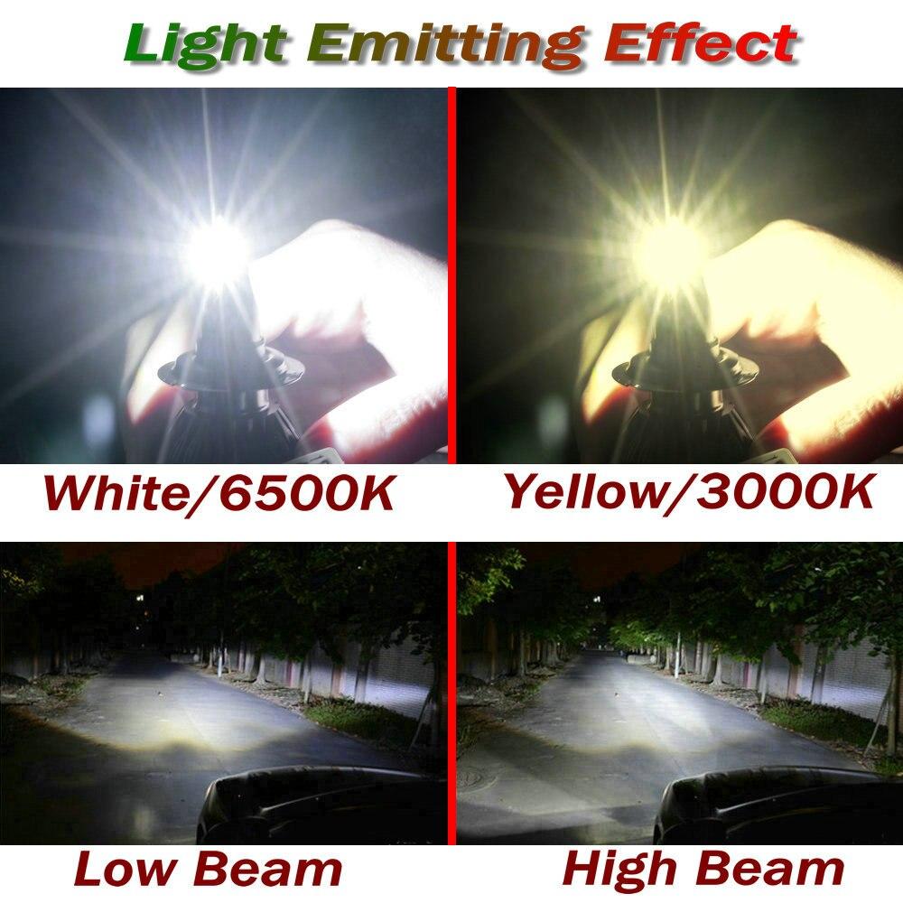 1 par 66W 6000lm H8 H9 H11 CSP Car Automotives Strålkastarsats lampa - Bilbelysning - Foto 6