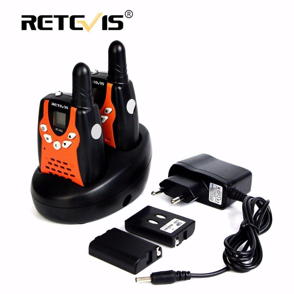 2 stücke Kinder Walkie Talkie Für Kinder Retevis RT602 0,5 watt PMR 8/22CH PTT Taschenlampe Akku Mini 2 weg Radio RT-602