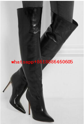Online Get Cheap Womens Black Thigh High Boots -Aliexpress.com ...