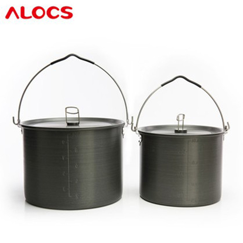 ALOCS 14-16 hanging pot Alocs camping set outdoor picnic pot CW-RT04 aluminum oxide чайник походный alocs love road off cw k04 alocs cw k04 pro