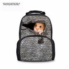 TWOHEARTSGIRL Классический Мышь Животных Отпечатано Женщины Рюкзак Большой Емкости Неисправности Рюкзак Регулируемый Ремень На Плечо Рюкзак