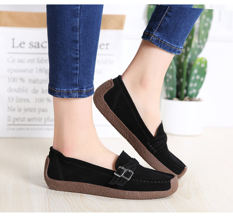 HX 7732-2019 Spring Autumn New Arrival Genuine Leather Women Flats Shoe-16