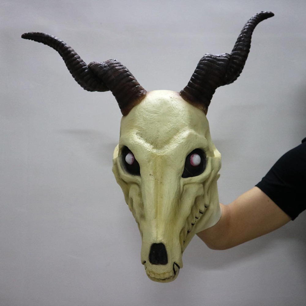 Japanese New Anime Mahoutsukai No Yome Cosplay Anime The Ancient Magus Bride Mask Sheep Head Skull Halloween Mask Party Costume