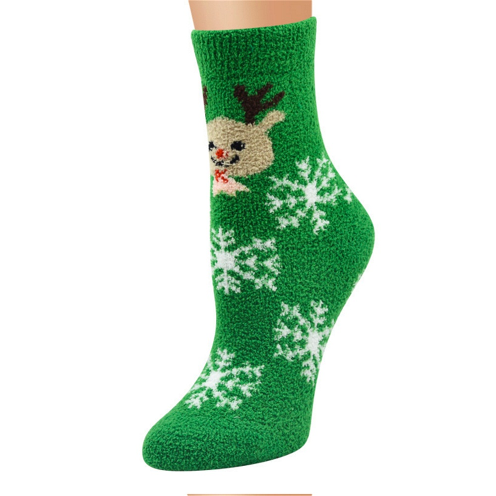 Lovely 1 Pair Lovely Cute Unisex 3D Printed Cartoon Christmas Socks Winter Spring Autumn Socks