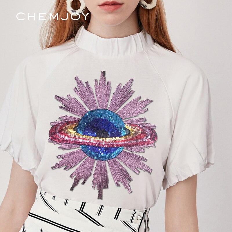 Большая нашивка с НЛО, Космический пластырь Alien, блестки, сделай сам, швейная наклейка на одежду, рюкзак жакет, джинсы, украшения, знак