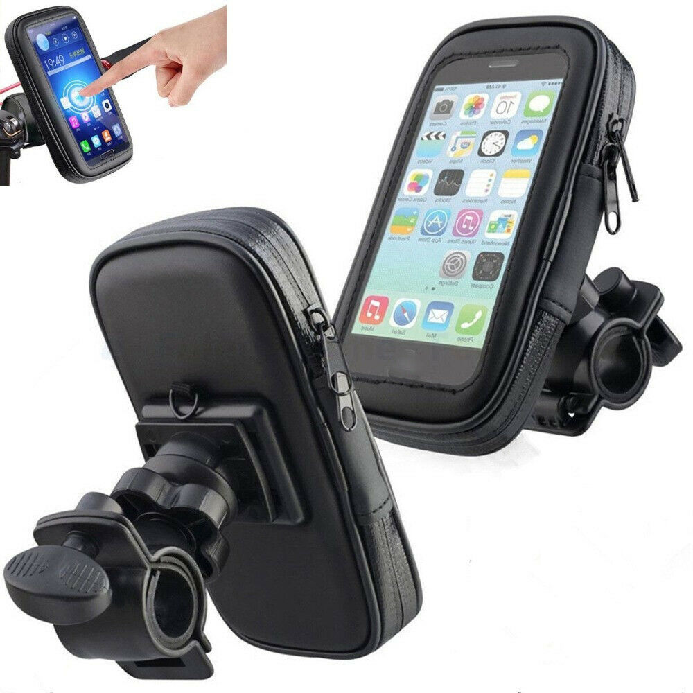 Bike Bicycle Motorcycle Mobile Phone Holder For Motor Stand Waterproof Case Bag Cover Handlebar Mount Holder For Iphone X Huawei