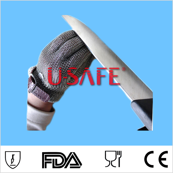 2018 New Stainless Steel Wire Mesh Cut-Resistant Gloves For Wood Carving And Meat Cutting Self Defense Personal Protection cut resistant steel mesh gloves for carving carpenter glove blade proof glove
