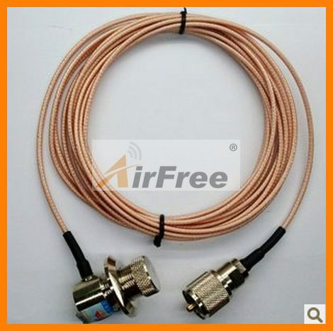 Male High Quality Taiwan SURMEN 1.5D 5M Mobile Radio Cable, Two Way Radio Cable, Extend Cable, Car Radio Kit Accessory