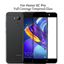 For Huawei Honor 6C Pro Tempered Glass Full Screen Protector Protective Film JMM- AL00 AL10 Glass Display Cover Honor V9 Play protective glass red line for huawei honor 6c pro full screen 3d white