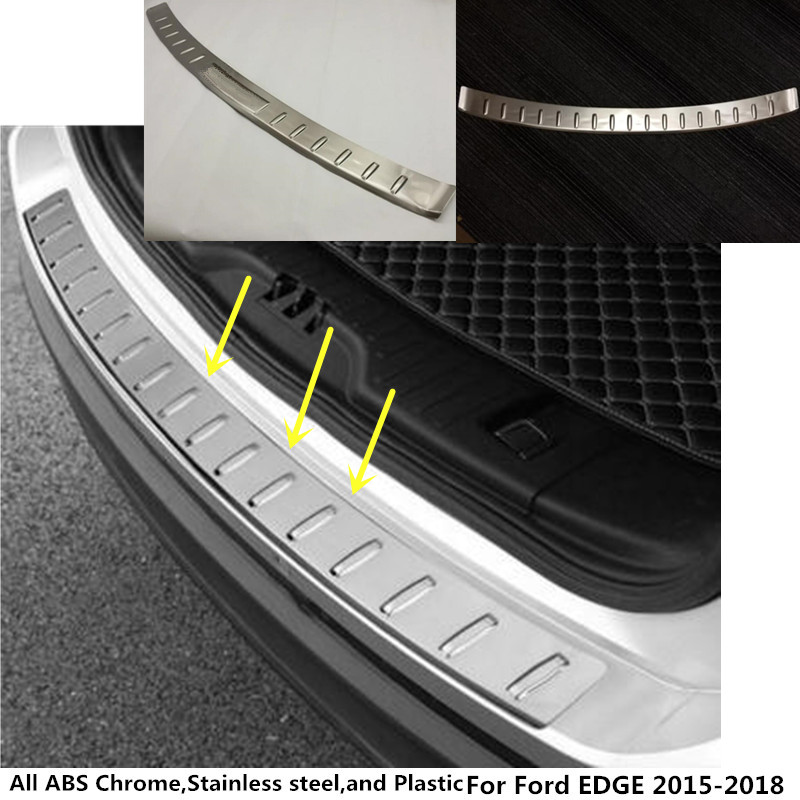 For Ford EDGE 2015 2016 2017 2018 car styling Stainless steel Back Rear Pedal Door Scuff Plate Frame outside Threshold Trunk motorcycle brake pads for ktm duke 125 4t 2011 2012 2013 duke 200 4t 12 13 duke 390 2013 front brake pads
